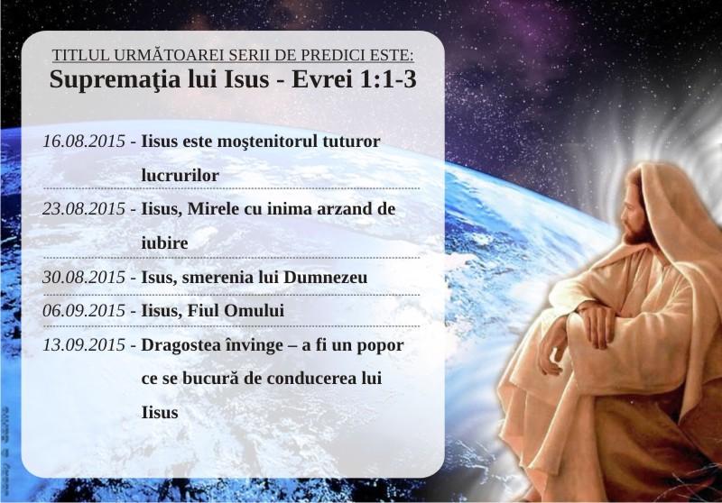Seria suprematia lui Isus